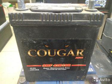 40Ач аккумулятор б/у Cougar Asia