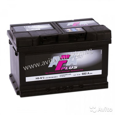 Аккумулятор AFA 72R (низкий) обр. пол. 72 А/ч