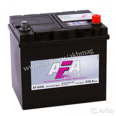 Аккумулятор AFA asia 60R обр. пол. 60 А/ч