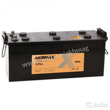 Аккумулятор Akbmax 135 рус прям. пол. 135 А/ч