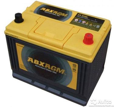 Аккумулятор Atlas ABX AGM 75 А/ч 750 A. AX S65D26L