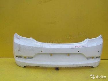 39845 Бампер задний хэчтбек рест Hyundai Solaris