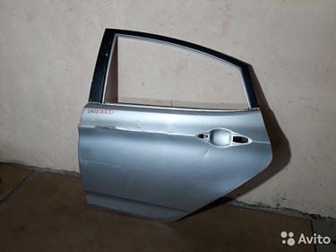 2905175D Дверь задняя левая Hyundai Solaris седан